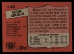 1987 Topps #189  Eddie Brown  Back Thumbnail