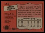 1987 Topps #150  Henry Ellard  Back Thumbnail
