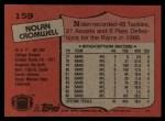 1987 Topps #159  Nolan Cromwell  Back Thumbnail