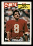 1987 Topps #165  Nick Lowery  Front Thumbnail