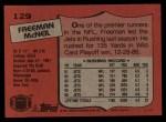 1987 Topps #129  Freeman McNeil  Back Thumbnail
