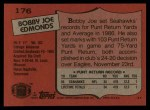 1987 Topps #176  Bobby Joe Edmonds  Back Thumbnail