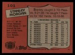 1987 Topps #101  Stanley Morgan  Back Thumbnail