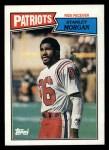 1987 Topps #101  Stanley Morgan  Front Thumbnail