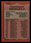 1987 Topps #184   Bengals Leaders Back Thumbnail
