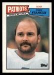 1987 Topps #104  Tony Franklin  Front Thumbnail