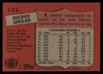 1987 Topps #133  Mickey Shuler  Back Thumbnail