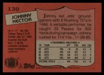 1987 Topps #130  Johnny Hector  Back Thumbnail