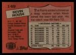 1987 Topps #149  Kevin House  Back Thumbnail