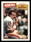1987 Topps #112  Joe Montana  Front Thumbnail