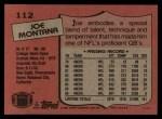 1987 Topps #112  Joe Montana  Back Thumbnail