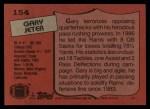 1987 Topps #154  Gary Jeter  Back Thumbnail