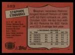 1987 Topps #103  Stephen Starring  Back Thumbnail