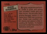 1987 Topps #194  Eddie Edwards  Back Thumbnail
