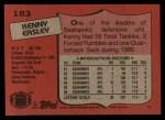 1987 Topps #183  Kenny Easley  Back Thumbnail