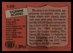 1987 Topps #120  Dwaine Board  Back Thumbnail