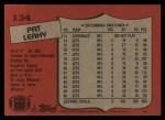 1987 Topps #134  Pat Leahy  Back Thumbnail