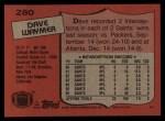 1987 Topps #280  Dave Waymer  Back Thumbnail