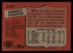 1987 Topps #285  Earnest Jackson  Back Thumbnail