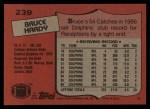 1987 Topps #239  Bruce Hardy  Back Thumbnail