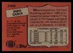 1987 Topps #298  Mike Quick  Back Thumbnail