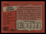 1987 Topps #249  David Archer  Back Thumbnail