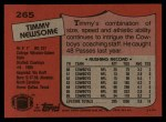 1987 Topps #265  Timmy Newsome  Back Thumbnail