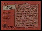 1987 Topps #221  Bill Pickel  Back Thumbnail