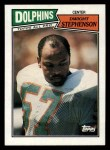 1987 Topps #242  Dwight Stephenson  Front Thumbnail