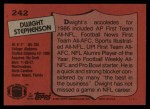 1987 Topps #242  Dwight Stephenson  Back Thumbnail