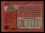 1987 Topps #217  Dokie Williams  Back Thumbnail
