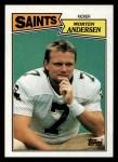 1987 Topps #277  Morten Andersen  Front Thumbnail