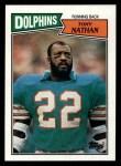 1987 Topps #235  Tony Nathan  Front Thumbnail