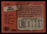 1987 Topps #270  Bill Bates  Back Thumbnail