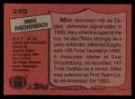 1987 Topps #295  Mike Reichenbach  Back Thumbnail