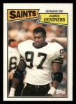 1987 Topps #282  Jumpy Geathers  Front Thumbnail