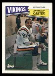 1987 Topps #202  Anthony Carter  Front Thumbnail