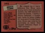 1987 Topps #281  Bruce Clark  Back Thumbnail