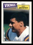 1987 Topps #211  Joey Browner  Front Thumbnail