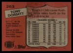 1987 Topps #263  Tony Dorsett  Back Thumbnail