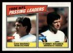 1987 Topps #227   -  Dan Marino / Tommy Kramer Passing Leaders Front Thumbnail