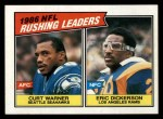 1987 Topps #229   -  Eric Dickerson / Curt Warner Rushing Leaders Front Thumbnail