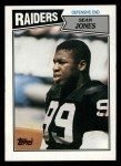 1987 Topps #222  Sean Jones  Front Thumbnail