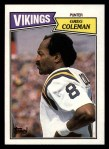 1987 Topps #206  Greg Coleman  Front Thumbnail