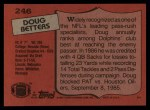 1987 Topps #246  Doug Betters  Back Thumbnail