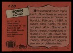 1987 Topps #220  Howie Long  Back Thumbnail