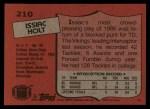 1987 Topps #210  Issiac Holt  Back Thumbnail