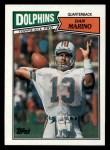 1987 Topps #233  Dan Marino  Front Thumbnail