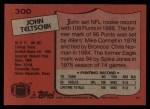 1987 Topps #300  John Teltschik  Back Thumbnail