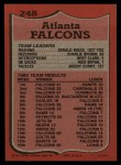 1987 Topps #248   Falcons Leaders Back Thumbnail
